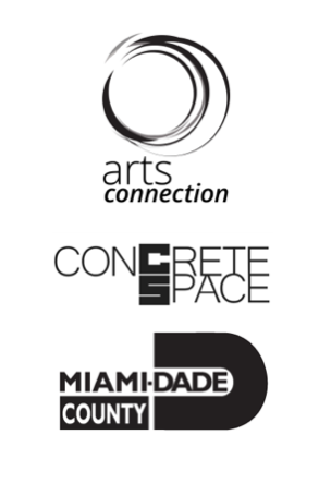Arts Connection, Concrete Space & Miami-Dade County logos